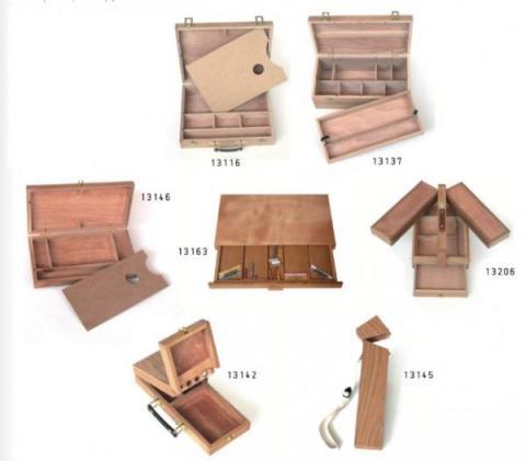 Cajas de madera para pintura y pinceles michel - Pintura para madera barnizada ...